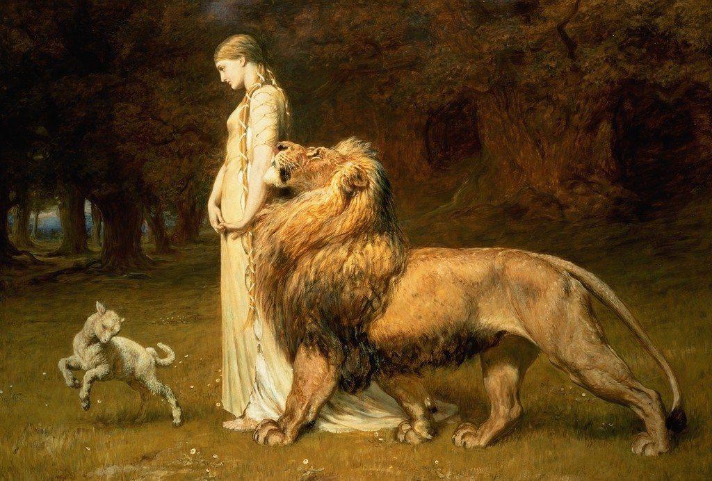 a. zelfvertrouwen1024px-Briton_Rivière_-_Una_and_the_Lion